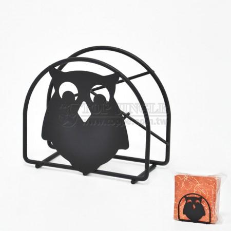 貓頭鷹系列方型餐巾紙架