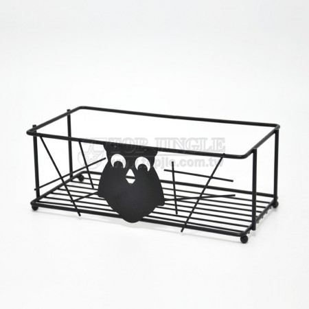 貓頭鷹系列長方型置物籃架