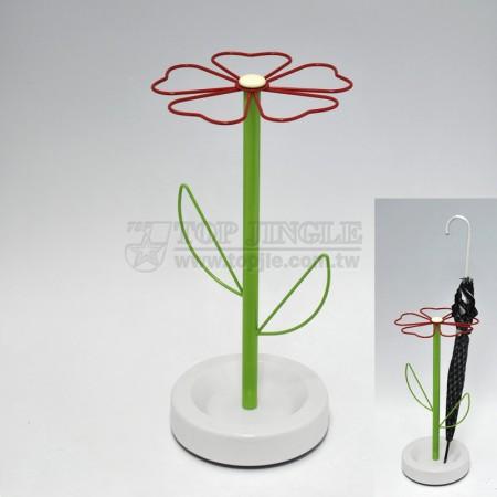 鐵線花朵造型雨傘架