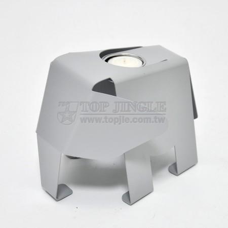 鐵板大象造型燭台架