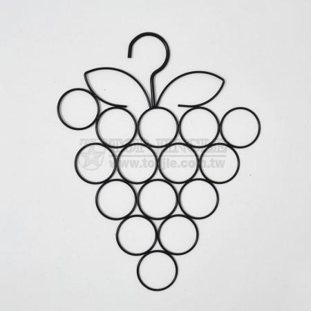 葡萄造型鐵線圍巾架