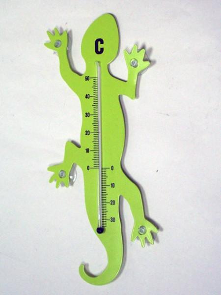 壁虎造型吸盤溫度計(大)