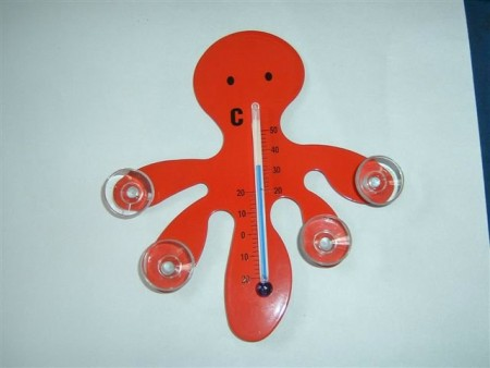 章魚造型吸盤溫度計