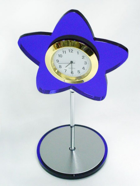 星星造型桌上小時鐘