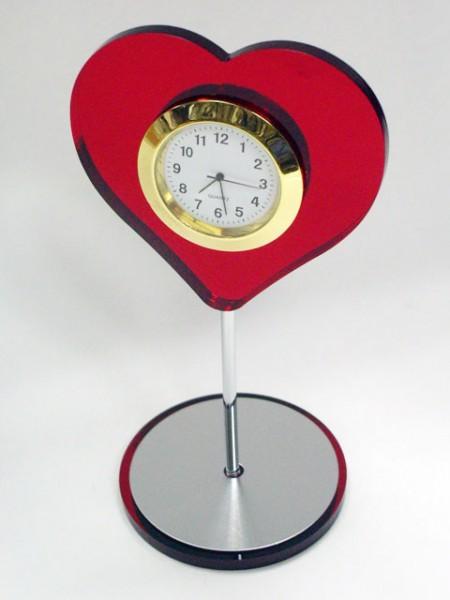 心型桌上小時鐘