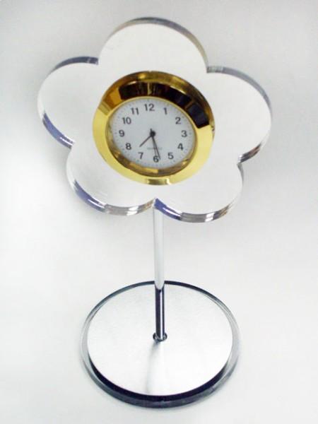 花造型桌上小時鐘