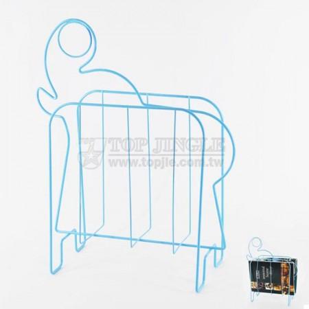 藍色鐵線大象造型雜誌架
