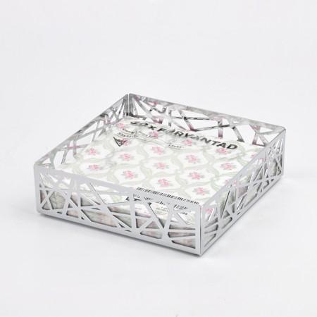 四方樹枝狀造型紙巾盤