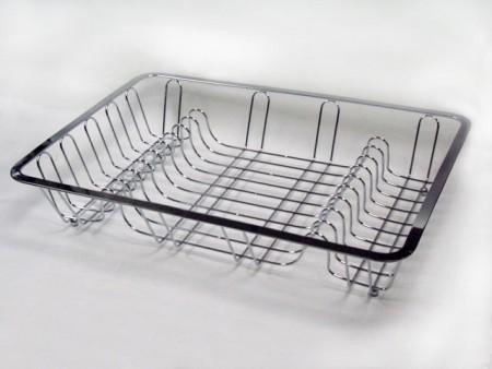 扁框長方鐵線碗盤架