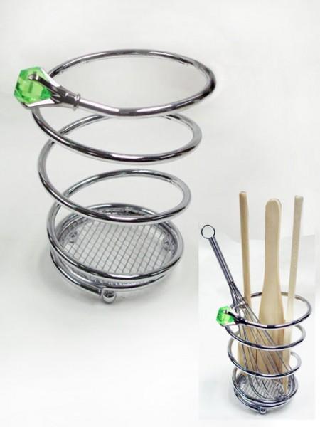 鐵線鑽石螺旋造型刀叉桶