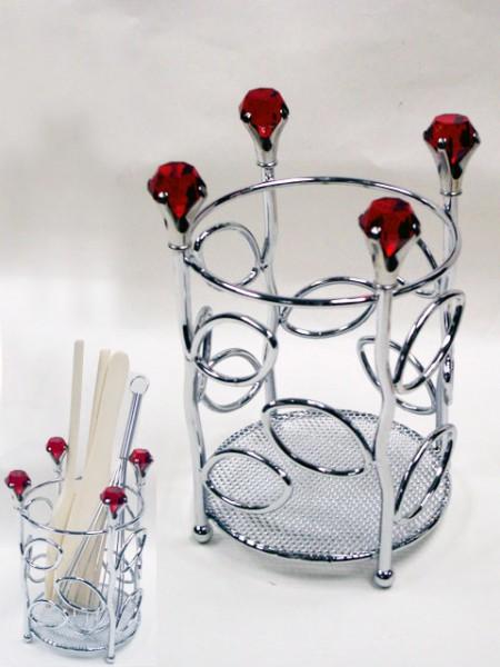 鐵線鑽石花造型刀叉桶