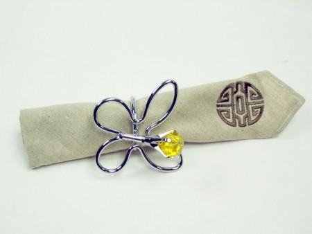 鐵線鑽石蝴蝶造型餐巾紙圈架