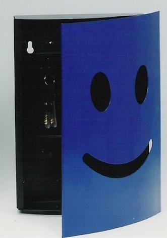 微笑鎖壁圓形鑰匙箱