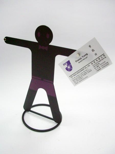 男孩造型名片磁鐵夾
