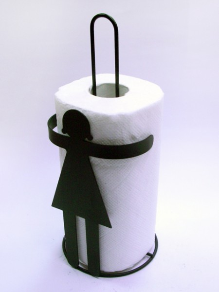 女孩造型餐巾紙捲架