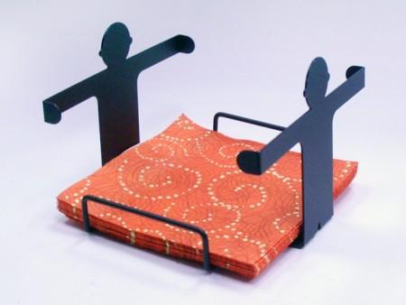 男孩造型四方餐巾紙架
