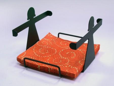 女孩造型四方餐巾紙架