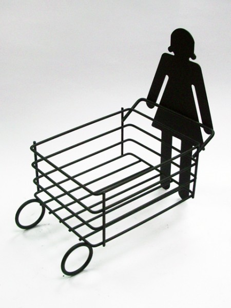 女孩造型推車置物架