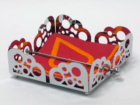 水泡系列方型平放式餐巾紙架,壓棒