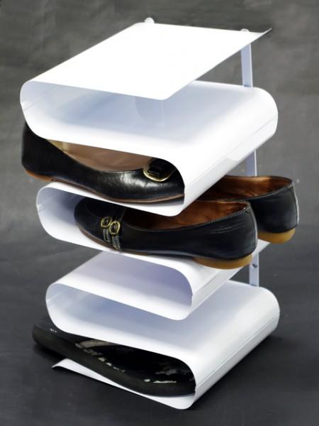 S造型六格鎖壁鞋架