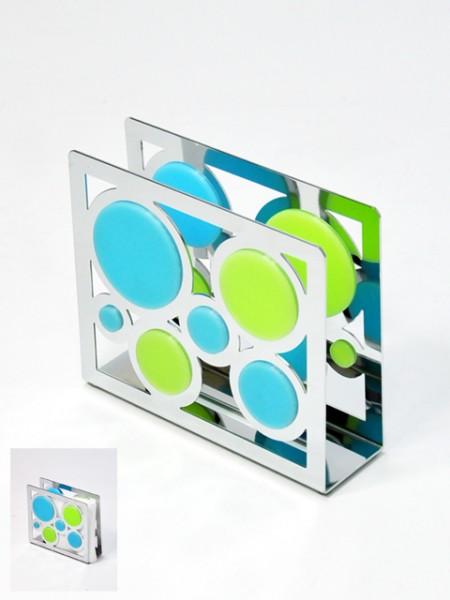 雙色矽膠圈圈四方造型U型餐巾紙架