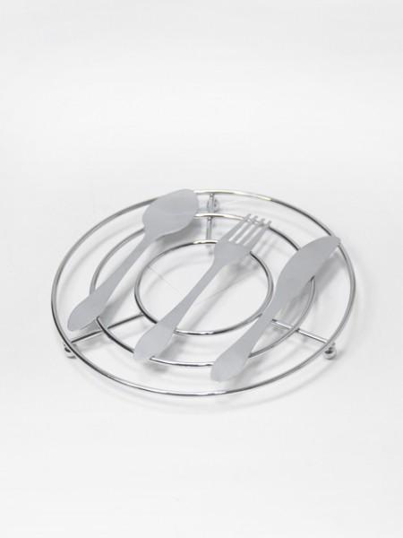 餐具造型圓形隔熱墊