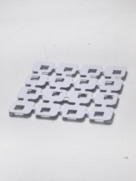 白色方型縷空隔熱墊