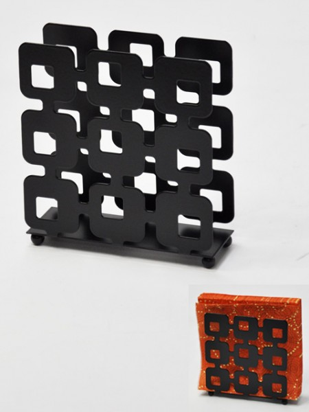 方型縷空餐巾紙架
