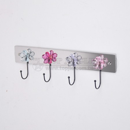 Diamond Flower Single Hook