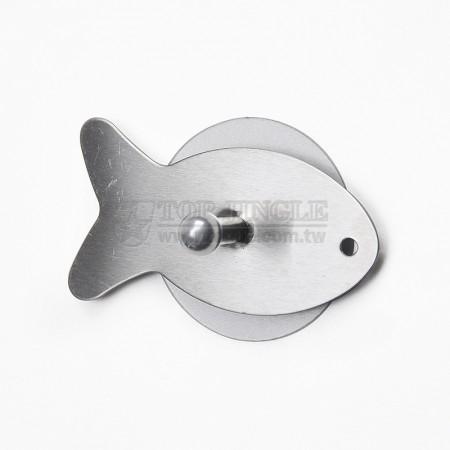 Одиночный крючок в форме рыбы