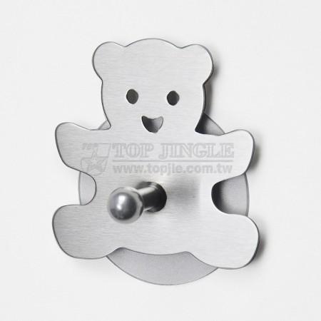 Одиночный крючок в форме медведя