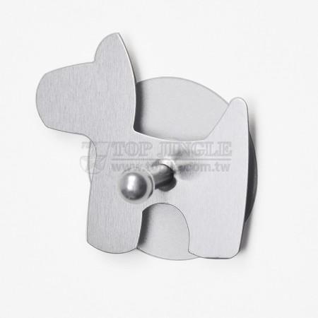 Одиночный крючок в форме собаки