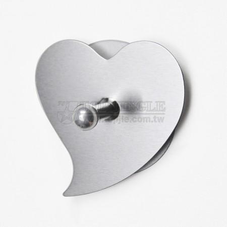 Одинарный крючок в форме сердца