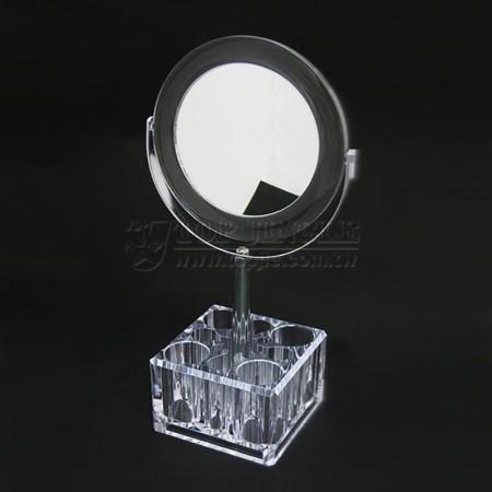 正方形底部四格口紅格,四格眼筆桌上鏡-大