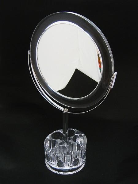 圓形底部六格口紅格桌上鏡-大