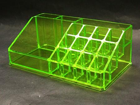 透明綠長方形1,2,,1,12格口紅置物格
