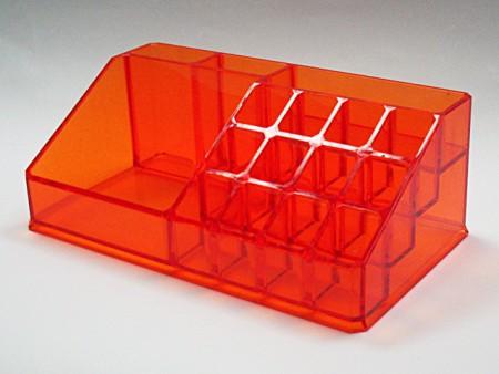 透明紅長方形1,2,,1,12格口紅置物格