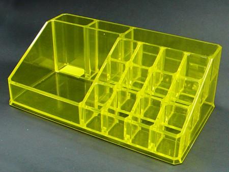透明黃透明紅長方形1,2,,1,12格口紅置物格