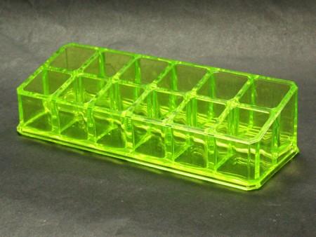透明綠小長方12格口紅格