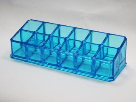 透明藍 小長方12格口紅格