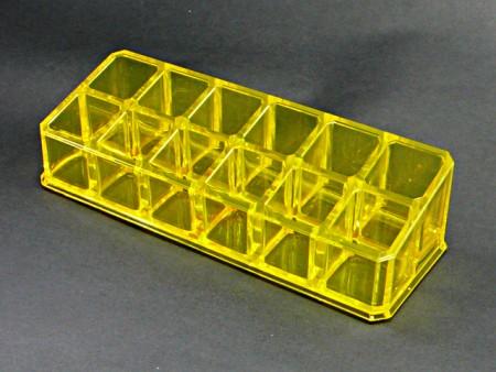 透明黃小長方12格口紅格