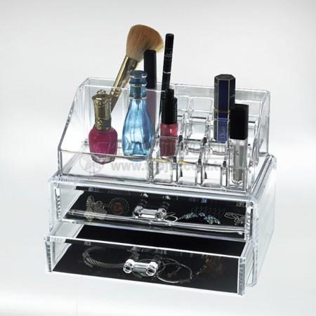 雙層壓克力化妝珠寶盒