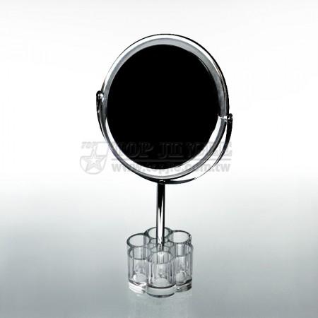 梅花形底座壓克力化妝品架,鏡子