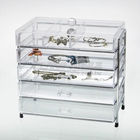 5層鐵線壓克力珠寶盒