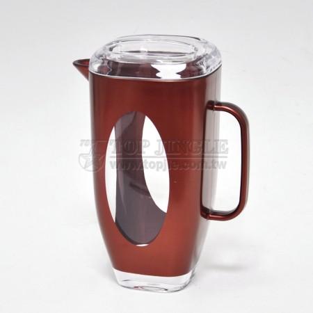 紅色方錐型橢圓洞造型冷水壺