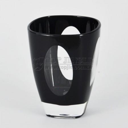 方錐型橢圓洞造型水杯