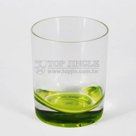 綠色波浪低杯