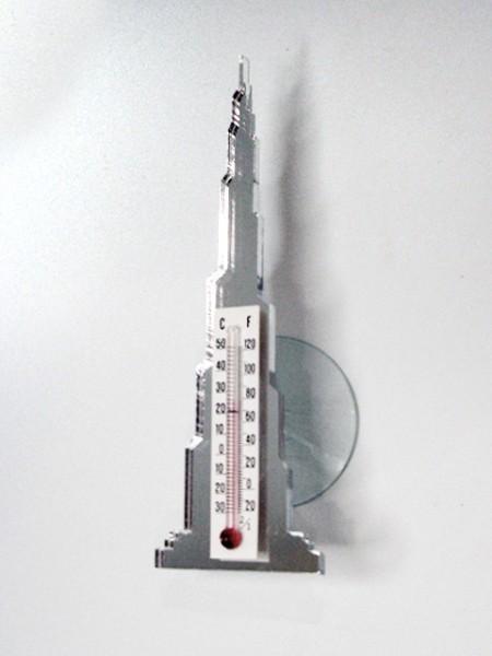 杜拜塔造型吸盤溫度計