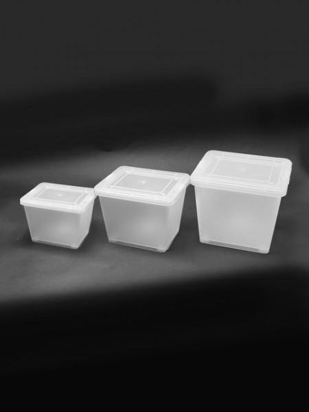 大中小白色置物盒3件組
