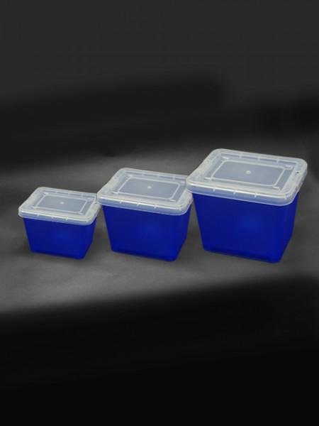 大中小藍色置物盒3件組